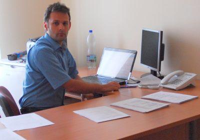 Csanádi András a kórház gazdasági vezetője