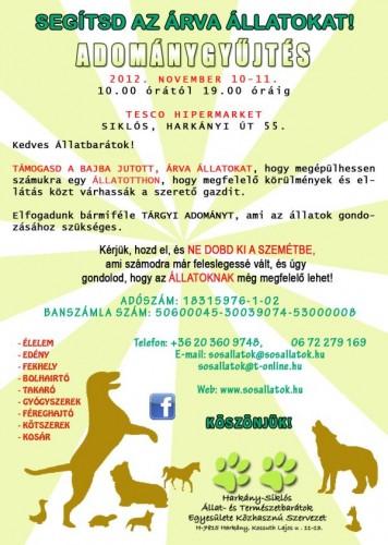 Harkány-Siklós Állat- és Természetbarátok Egyesületének adománygyűjtése
