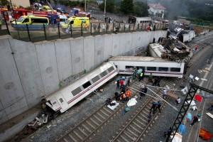 Kamera is rögzítette a spanyolországi vonatbalesetet
