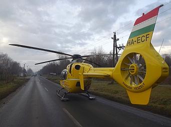 Mentőhelikopter vitte el – VIDEO