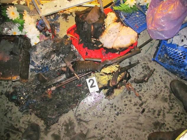 Géppisztoly és kézigránát került elő a tűzből