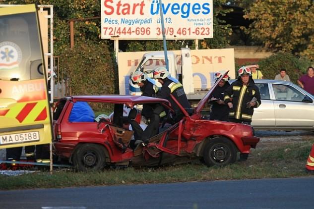Halálos baleset Pécsen