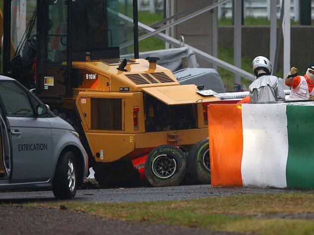 Amatőr felvételen Bianchi balesete – VIDEO