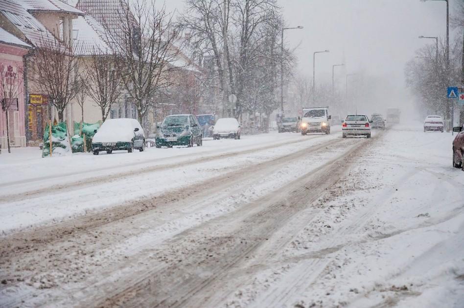 Harkány főutcája 2014. december 28-án. fotó: Kacsúr Tamás