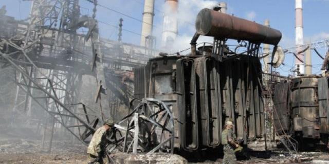 Rakétatalálat ért egy ukrán erőművet