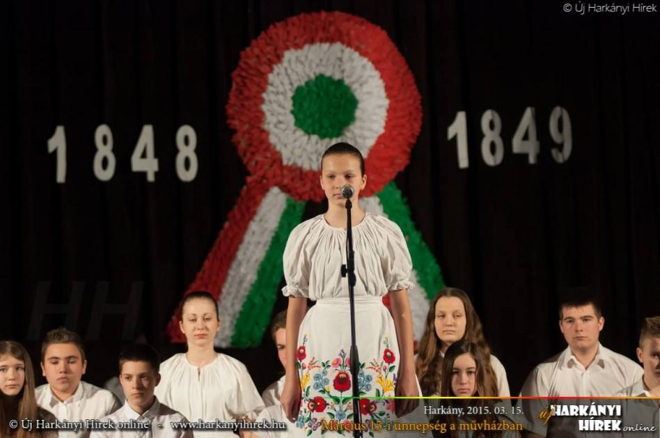 Március 15-i ünnepség a művházban