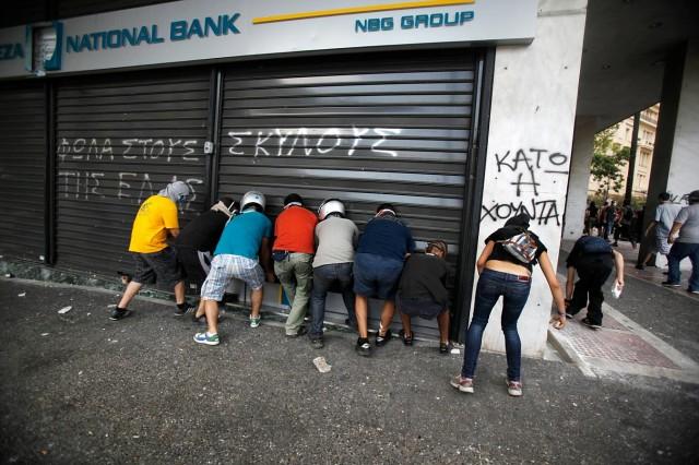 Zárva tartanak a görög bankok