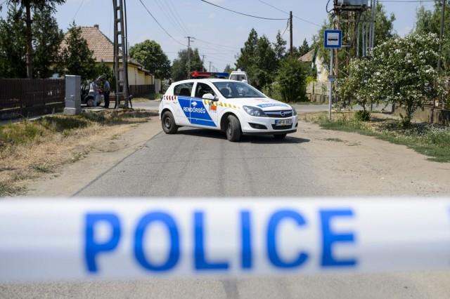 Rendőrségi útzár Hevesen, 2015. július 25-én. Fotó: Komka Péter, MTI