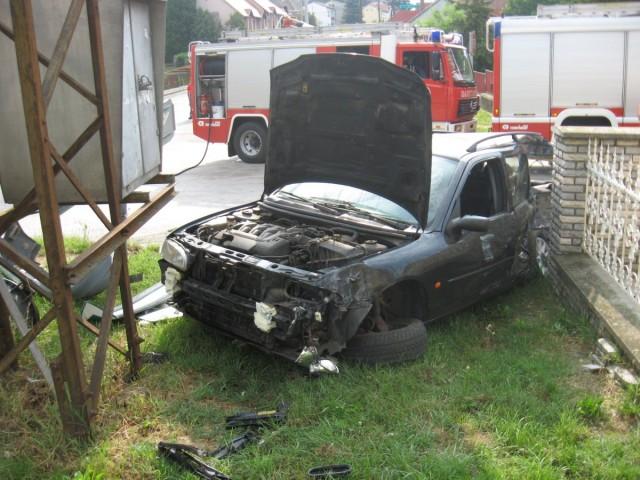 Áramszünet a baleset miatt