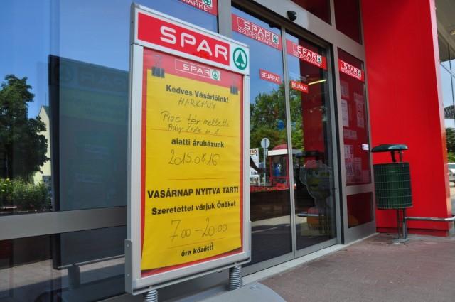 A harkányi Spar is nyitva lesz vasárnap