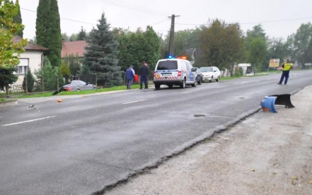 Baleset Drávaszabolcson – félpályán halad a forgalom