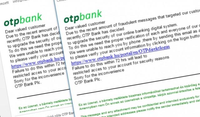 Ha az OTP-től kap levelet, nem is biztos, hogy az OTP-től kapott levelet