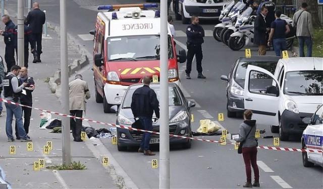 Rendőrségi helyszín Saint-Denis-ben az akció után. Fotó: Thomas Samson, AFP