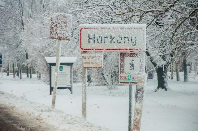 Hófúvás nehezíti a közlekedést Baranyában