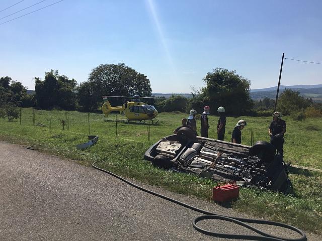 Két baleset is munkát adott a megye tűzoltóinak