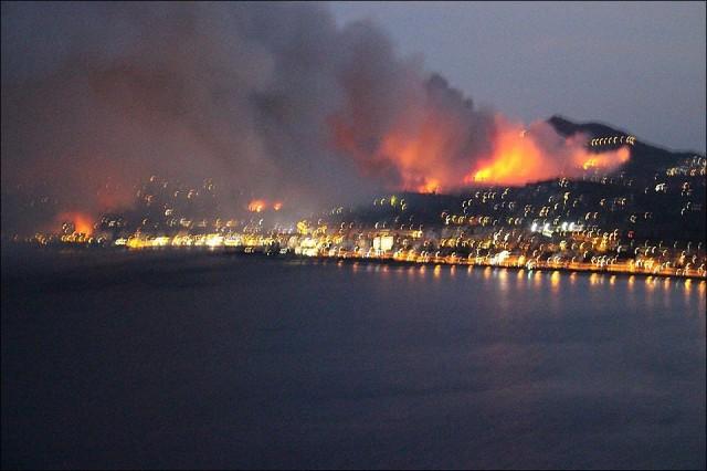 Gyorsan terjed a tűz Spanyolországban