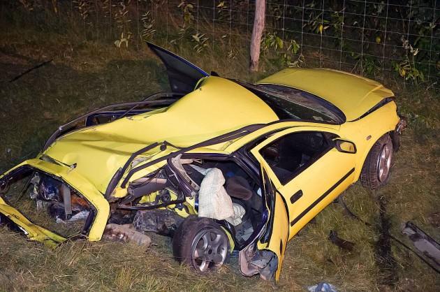 Szombaton az M5-ös autópályán három autó ütközött össze. Ketten életüket vesztették, öten súlyosan megsérültek. Fotó: Lakatos Péter, MTI