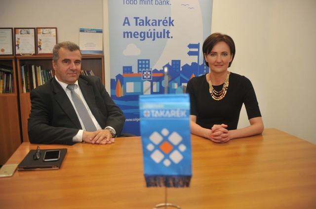 Dr. Gyarmatiné Szentes Anikó ügyvezető-igazgató és Osztrogonácz Gábor elnök-ügyvezető