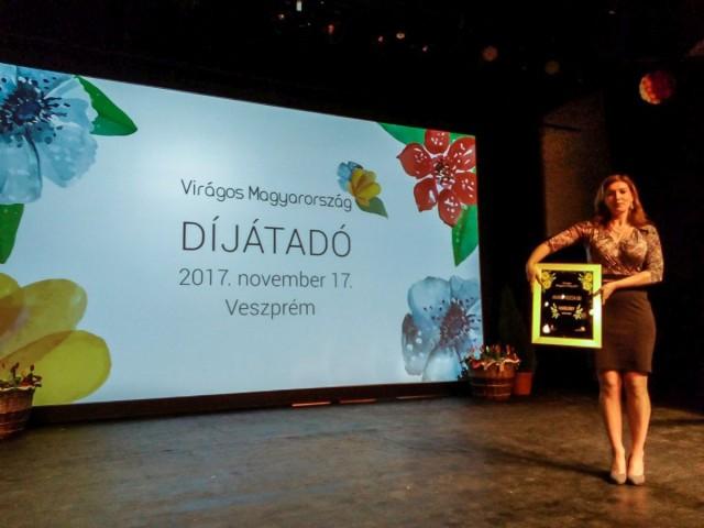 Arany Rózsa Díjat kapott Harkány a környezetszépítő versenyen