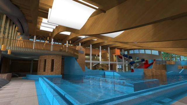 Fürdőfejlesztés: íme a megújuló medencetér