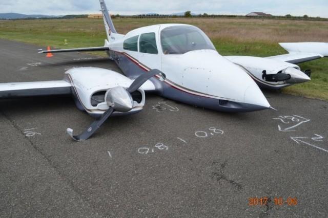 A gép több mint háromszáz méter csúszott a kifutón. fotó: rendőrség