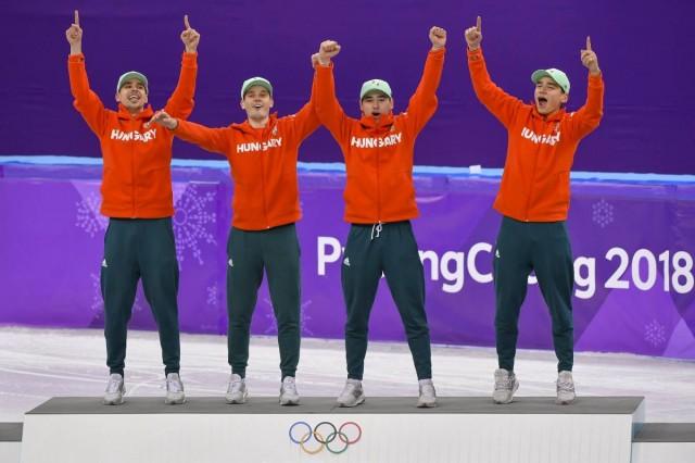 Olimpiai rekorddal szerezték meg az első magyar téliolimpiai aranyat a korcsolyázók