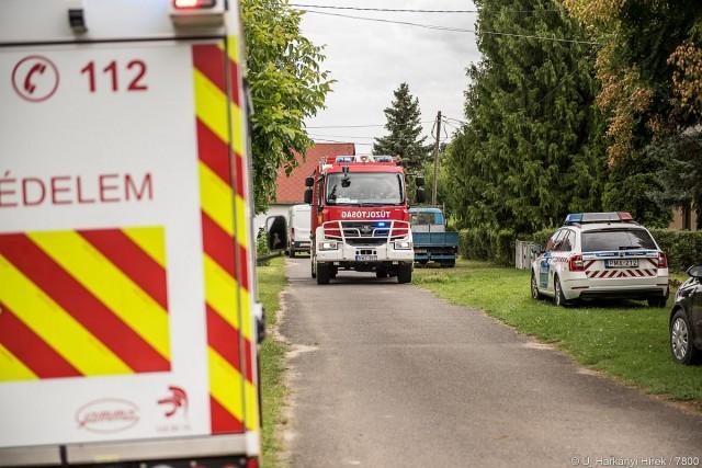 A mobillabort is riasztották Harkányba, 18 embernek kellett elhagynia az otthonát