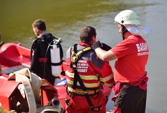Horvát és magyar speciális mentők gyakorlatoztak Drávaszabolcson