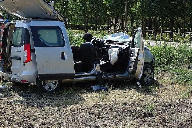 Halálos baleset Békés és Tarhos között. fotó: Donka Ferenc, MTI