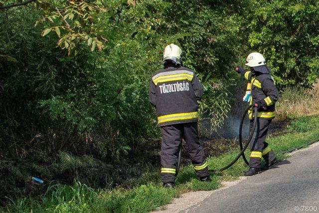 Szabadtéri tüzek adnak munkát a megye tűzoltóinak