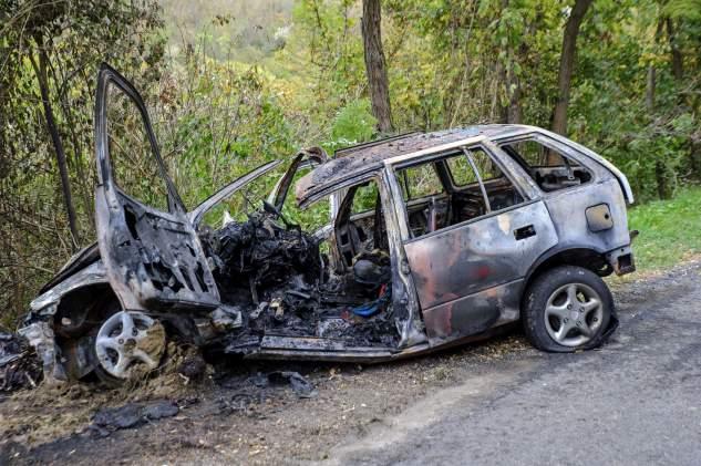 Halálos baleset Esztergomnál. Fotó: Lakatos Péter, MTI