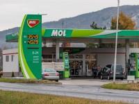 Harkányi üzemanyagárak 2018. november 28-án. Fotó: 7800/HH