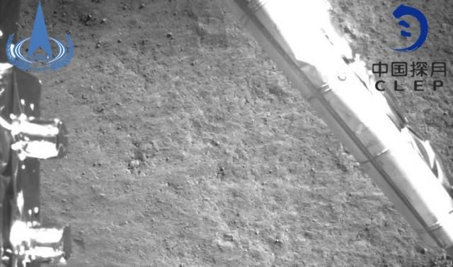A kínai űrszonda képe landolás előtt.