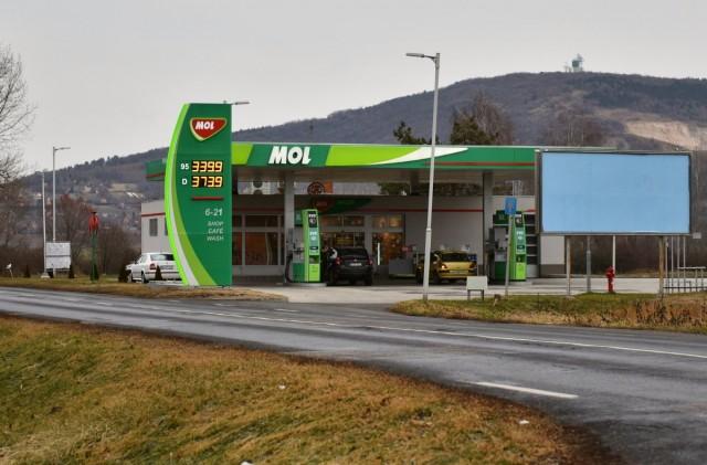 Harkányi üzemanyagárak 2019. január 4-én.