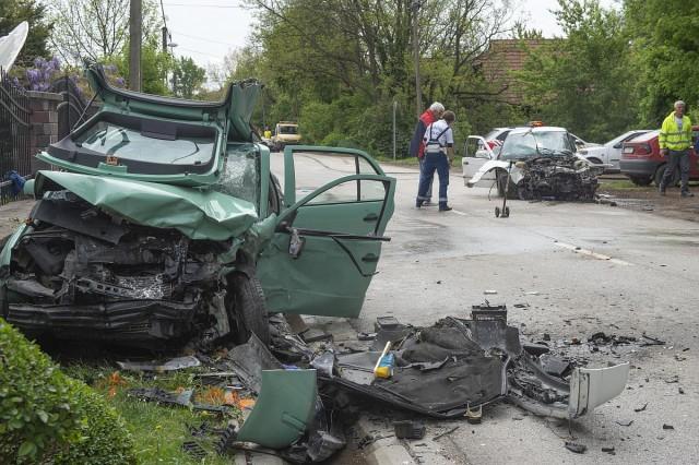 Halálos baleset Szentendrén. Fotó: Cseke Csilla, MTI