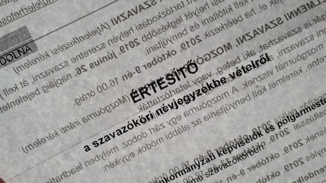 Választások – befejezték az értesítők postázását