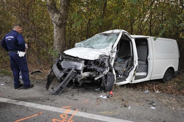 Halálos baleset történt Alsónémedinél. Fotó: Mihádák Zoltán, MTI