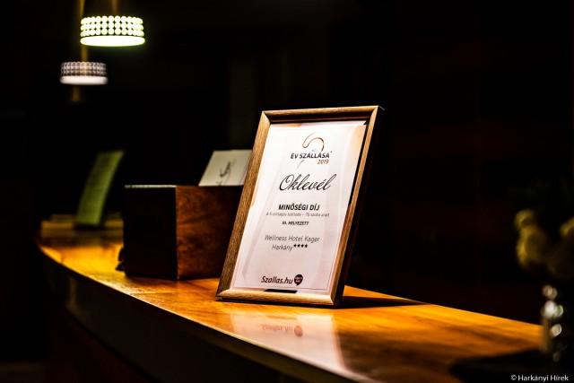 Baranyában egyedüliként kapott Minőség díjat egy harkányi hotel