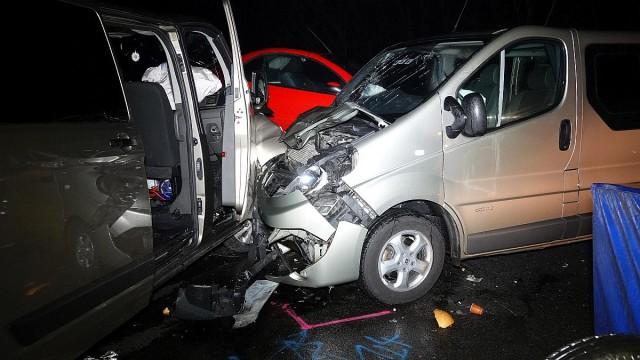 Halálos baleset az M5 autópályán. Fotó: Donka Ferenc, MTI