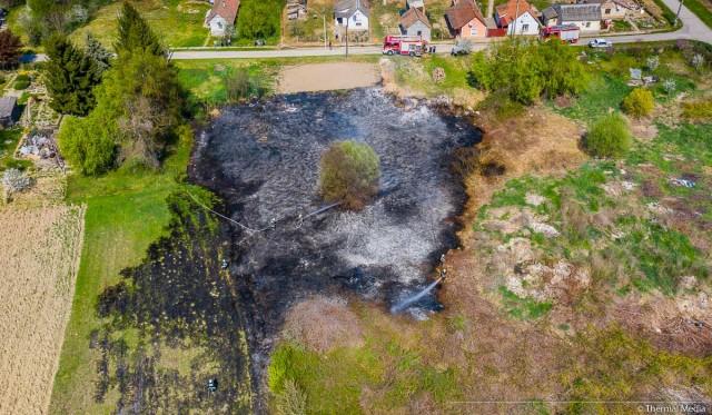 Három focipályányi gaz égett le Diósviszlón
