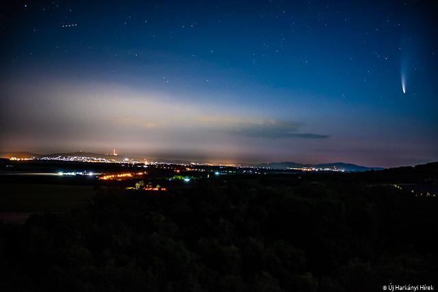 Így ragyog Pécs felett a több ezer évente érkező üstökös