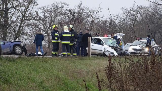 Halálos baleset Rákócziújfalunál. Fotó: Donka Ferenc