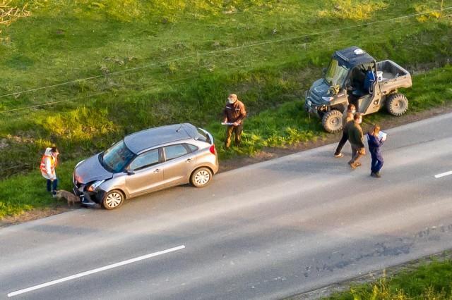 Quaddal ütközött egy autó Drávaszerdahely mellett