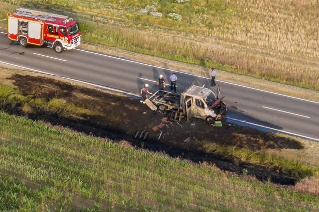 Kiégett egy autó Harkány határában