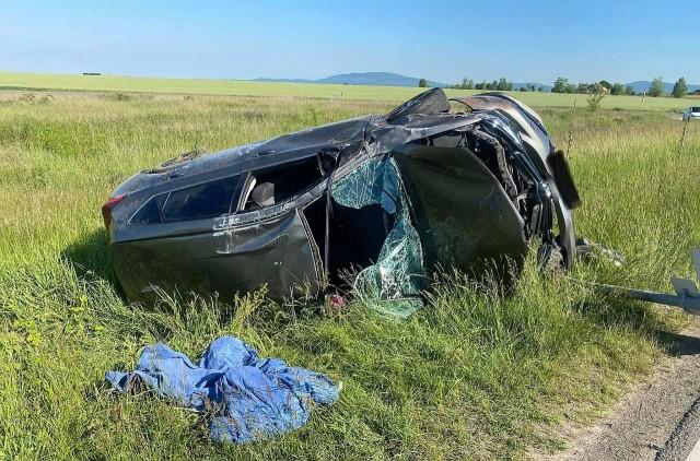 Felborult egy autó az 58-ason – frissítve: részletek